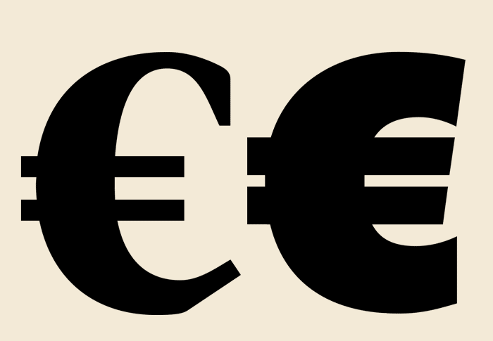 A new glyph for the European currency