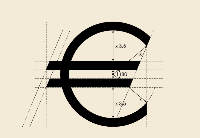 A new glyph for the European currency - The official blueprint for constructing a euro-symbol.