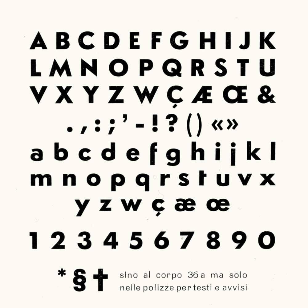 Céline - The original type specimen page 36pt Semplicità