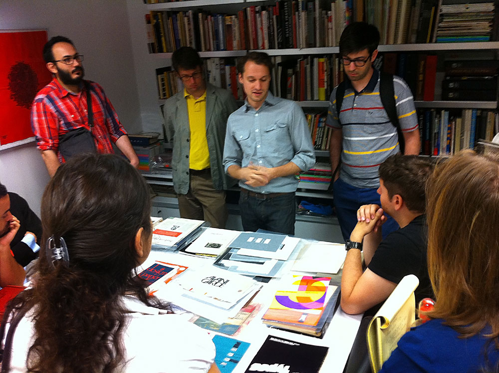 The 2012 Type@Cooper Condensed Program, Sasha Tochilovsky presenting at the Lubalin Center