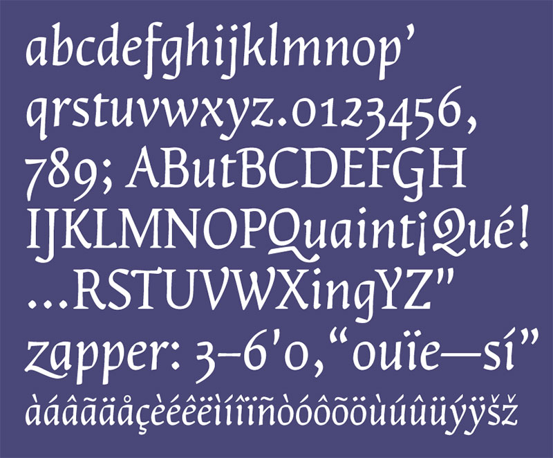 The 2012 Type@Cooper Condensed Program, final presentation, Lara